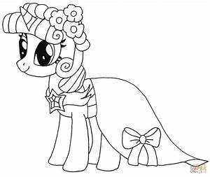 Princess Twilight Sparkle From My Little Pony Coloring