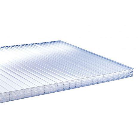 plaque polycarbonate alvéolaire plaque polycarbonate alv 201 olaire 32mm coloris clair epaisseur 32 mm largeur 98 cm