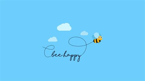 bee happy wallpapers hd wallpapers id 21088