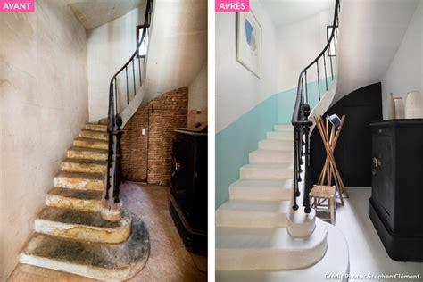 avant apr 232 s escalier restaurer les marches et peindre les murs