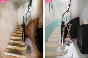 avant apres escalier restaurer les marches et peindre With peindre un escalier en pierre