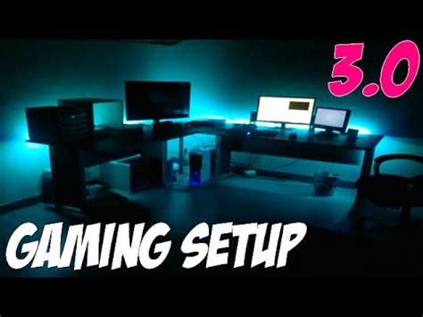 bureau pour gamer gaming set up 3 0 led ps4 bureau