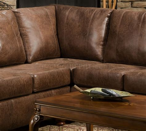 leather and microfiber sectional brown smokey leather like microfiber classic sectional sofa