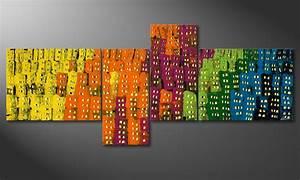 Tableau Contemporain Grand Format : tableau peinture grand format ~ Teatrodelosmanantiales.com Idées de Décoration