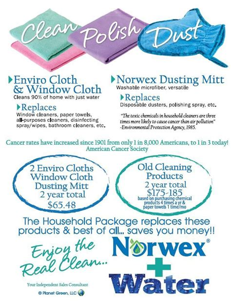 Norwex Boat Cleaner by Save With The Norwex Household Package Norwex Products