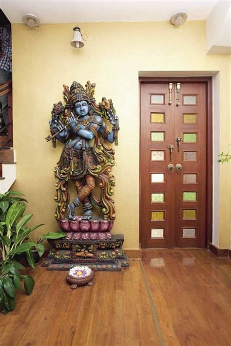 hindu home decor  krishna statue asian garden