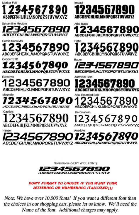 autocross numbers class sets panels placards