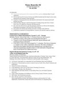 motivational speaker resume sle manny resume 2016