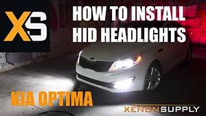 Kia Optima - How To Install Hid Xenon    W Wiring Harness  2011