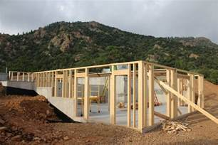 a frame house plans with basement cañon city house framing update evstudio architect