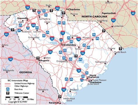south carolina map travelquaz com