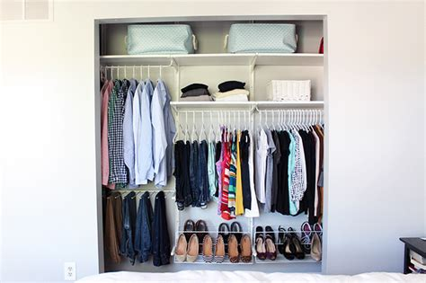 how to organize a small closet just a and