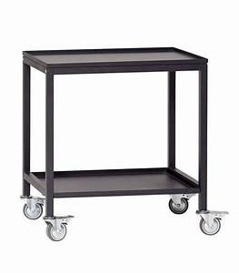 Table En Metal : table roulante desserte design en m tal noir ~ Teatrodelosmanantiales.com Idées de Décoration