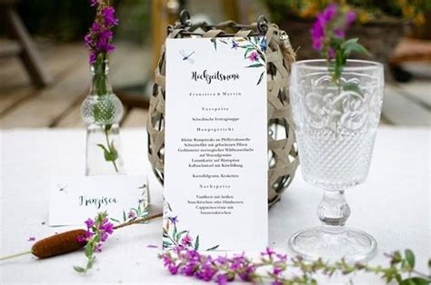 Menükarten Zur Hochzeit  Die Top 50 Beispiele, Ideen
