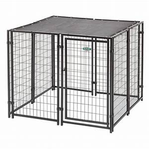 Fencemaster cottageview 5 ft x 5 ft x 4 ft boxed kennel for Dog run fence home depot