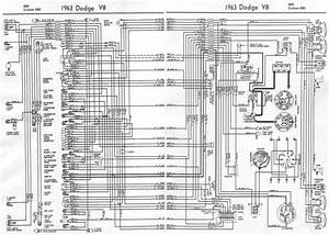 Dodge V8 880 And Custom 880 1963 Complete Electrical Wiring Diagram