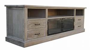 Meuble Hifi Bois : meuble tv chartier mobilier moss ~ Voncanada.com Idées de Décoration