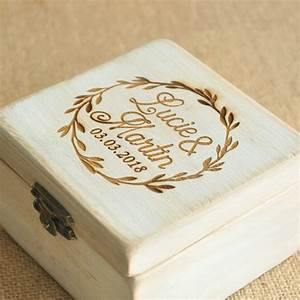 personalized wood wedding ring box personalized wedding With personalised wedding ring box