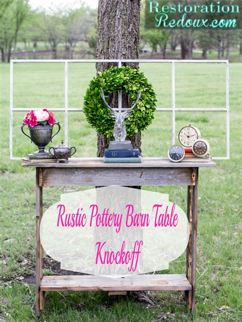 How Much Does Pottery Barn Pay by Rustic Pottery Barn Console Table Knockoff Daily Dose Of