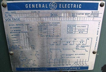 Trench Electric Potential Transformer Wiring Diagram by Ge Distribution Transformer Nameplate Testing And