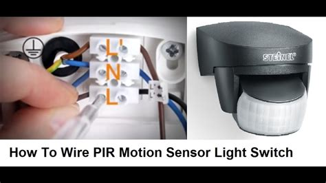 How Wire Pir Motion Sensor Light Switch Youtube
