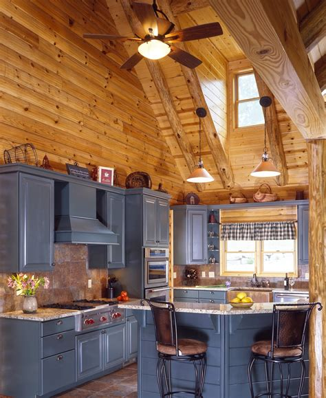 cabin kitchens ideas log cabin kitchens with modern and rustic style