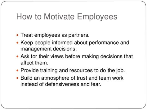 How To Put That You Trained Employees On Resume by Motivation Of Employees In The Work Place