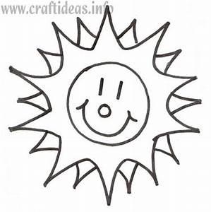 Free Craft Pattern and Template - Sunshine