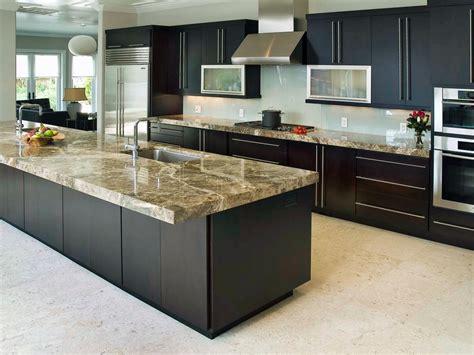 High End Black Kitchen Cabinet With Long Handles Door