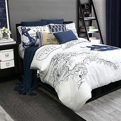 shelburne duvet cover set in navy white bed bath beyond