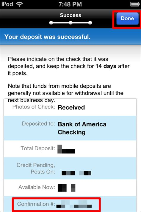 deposit checks by phone how to deposit checks with the bank of america iphone app