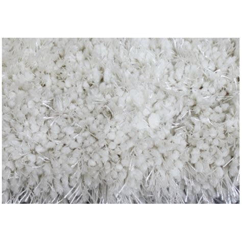 tapis 224 longs poils 4 x 6 polyester blanc rona