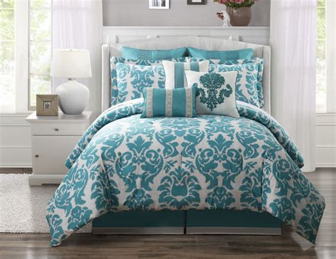 9 piece king chateau 100 cotton comforter set