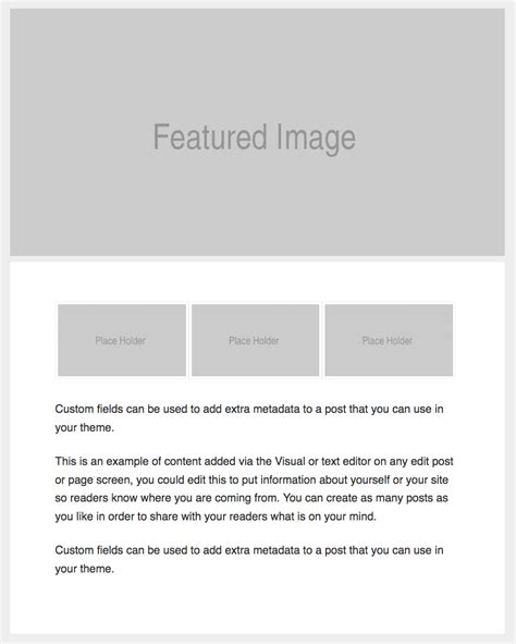 Single Post Page Template by Custom Single Template For Genesis