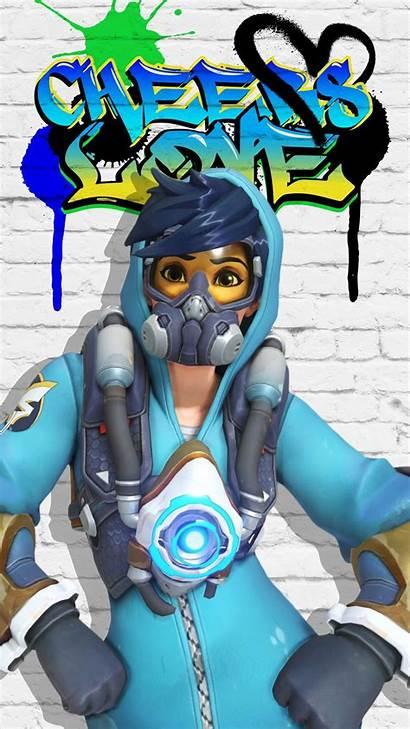 Tracer Overwatch Graffiti Wallpapers Minecraft Cartoon Maker