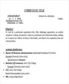 mba fresher resume sle 43 professional fresher resumes