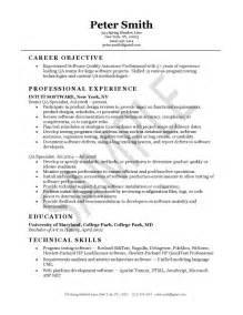 Pharmacy Intern Cover Letter Quality Assurance Resume Sle Resume Sles