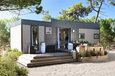 mobilhome 3 chambres taos mobile homes grey wooden cladding cing en chon