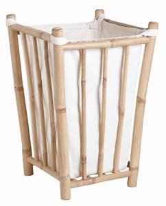 Panier à Linge Bambou : panier linge en bambou et coton ~ Teatrodelosmanantiales.com Idées de Décoration