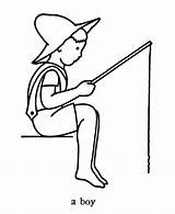 Fishing Coloring Boy Drawing Bestcoloringpagesforkids Fathers Popular Adult sketch template