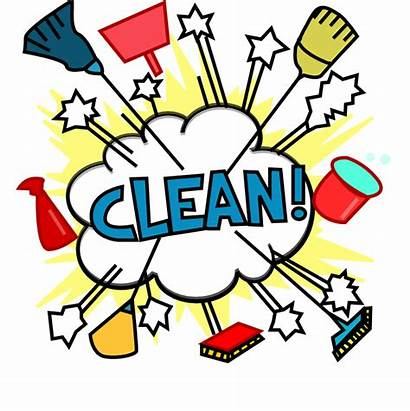 Cleaning Cartoon Lady Services Company Clean Supplies