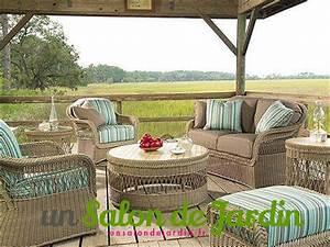Salon Jardin Rotin : salon de jardin en rotin campagne anglaise un salon de ~ Melissatoandfro.com Idées de Décoration