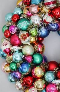 How, To, Make, A, Diy, Vintage, Christmas, Ornament, Wreath