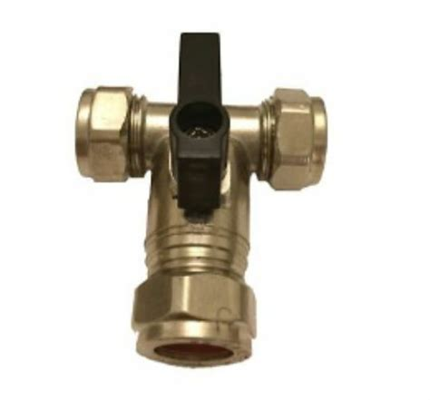 15mm Isolation Tee  Ideal For Fitting A Garden Tap