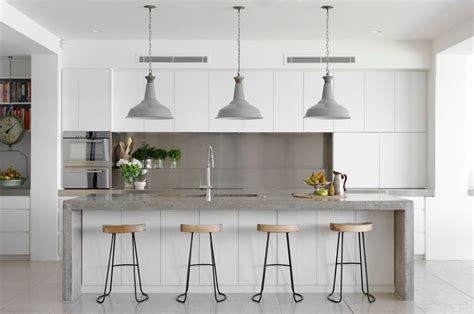 white and gray kitchen 30 gorgeous grey and white kitchens that get their mix right Modern