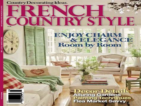 miscellaneous country french decor magazines with decor