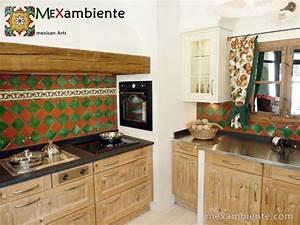 Fliesen Für Landhausküche : mexikanische fliesen als fliesenspiegel in der k che ~ Sanjose-hotels-ca.com Haus und Dekorationen