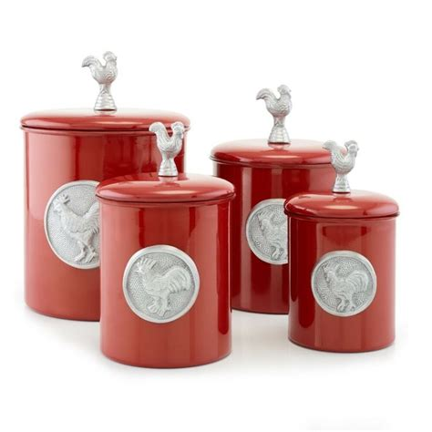 I remain pretty surprised about the tasting, and the differences not being particularly pronounced. Kitchen Canister Set 4 Piece Red Rooster Food Storage Containers Country Decor #Unbranded ...
