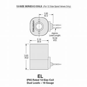 Hydraforce 6852024 Solenoid Valve Series Coil  Wire Leads