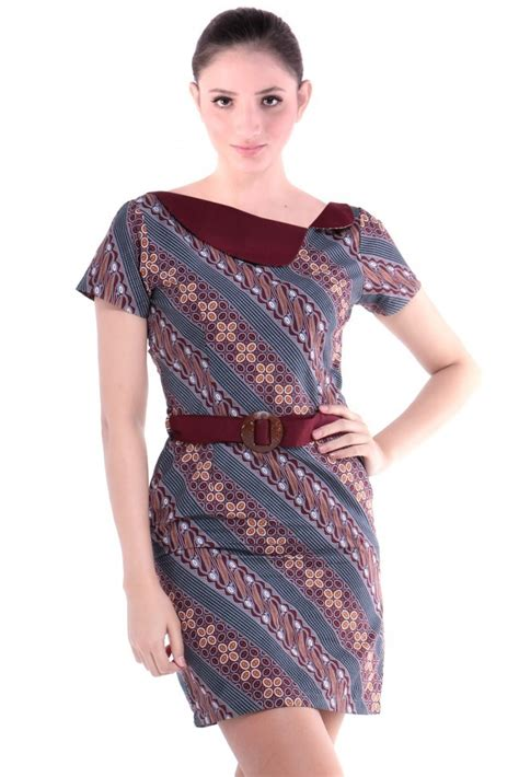 dress batik modern terbaru  cantik anggun